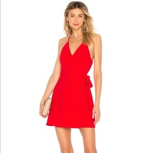 Red wrap dress from REVOLVE